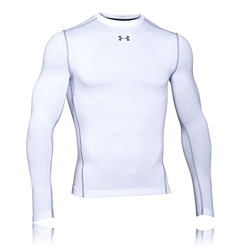 Under Armour UA CG ARMOUR CREW Chemise à manches longues Homme White FR : XXL (Taille Fabricant : XXL)