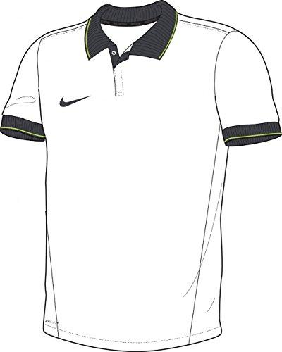 NIKE Squad 14–Camiseta Polo de Manga Corta, Hombre, Poloshirt SS Squad 14, Blanco/Gris, XXXL