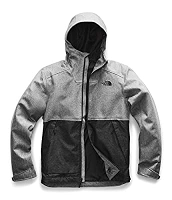 The North Face Men's Millerton Windbreaker Jacket, Monument Grey Herringbone/TNF Black Dobby, XL from The North Face