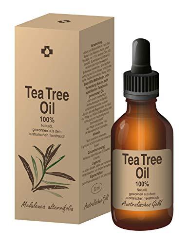 Ovonex Teebaumöl | Essential Tea Tree Oil - 100% Naturrein, Australisches Teebaumoel (50ml) für gesunde Haut&Körper, Akne-Behandlung, Ideal gegen unreine Haut, Entzündungshemmend, Antibakteriell