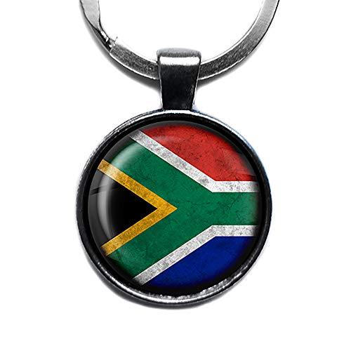 South Africa South African Flag Südafrika Südafrikanische Flagge Keychain Silber Schlüsselanhänger