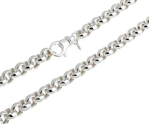Runde Erbskette - 10mm Breite - Länge wählbar 40cm-100cm - echt 925 Silber