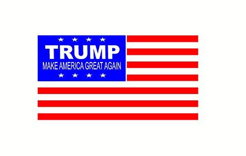 Trump maken Amerika groot weer Vlag Sticker auto, Laptop glad oppervlak Decal 4.5 x 8.5 gemakkelijk aan te brengen en verwijderbaar