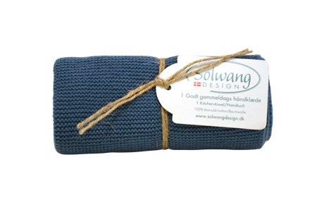 Solwang Handtuch Rustikales Blau Baumwolle gestrickt Geschirrtuch Küchentuch