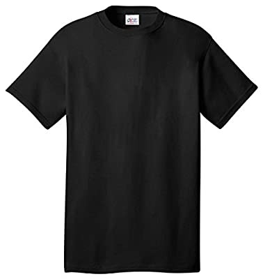 Port & Company All-American Tee, XL, Black by