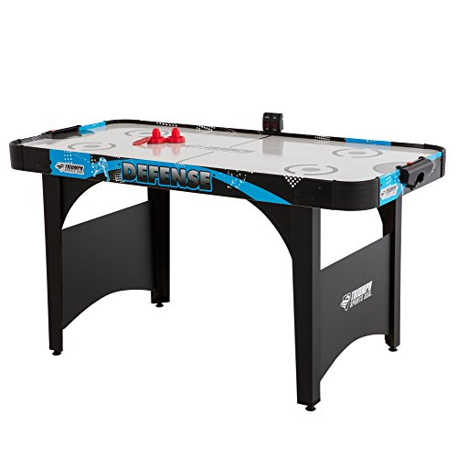 Triumph Defense 5' Air-Powered Hockey Table Includes 2 Strikers and 2 Red Pucks Perfect for Youth to Teenage Players