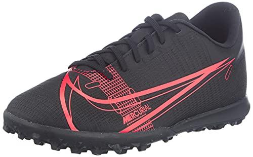 Nike Vapor 14 Club TF, Scarpe da Calcio Unisex-Adulto, Black/Black-Cyber-Siren Red, 43 EU