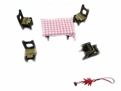 Générique 4chaises et 1table bois pour crèche bergers 6–7cm Noël artisanales Gia hommage Porte-clés amulette
