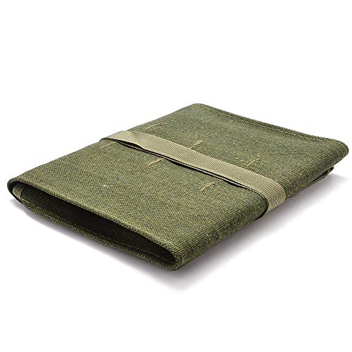 BLN09 Tools - Useful Bonsai Storage Package Roll Bag Tool Set Canvas Case Holder Green 600x430MM