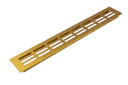 Belüftungsblech rechteckig Lüftungsgitter Alu Gold-Optik Stegblech Möbel & Tür-Gitter oval -...