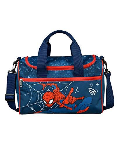 Scooli SPMA7252 - Sporttasche für Kinder mit Hauptfach und Fronttasche, Marvels Spider-Man, für Sport und Reisen, ca. 16 x 35 x 23 cm, ca. 8 Liter