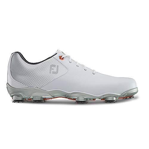 FootJoy Men's D.N.A. Helix-Previous Season Style Golf Shoes White 9.5 M Silver, US