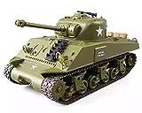 POCO DIVO Sherman M4A3 US Medium Tank RC IR Battle Panzer 2.4Ghz 1/30 Scale Model Military Vehicle w. Sound & Light