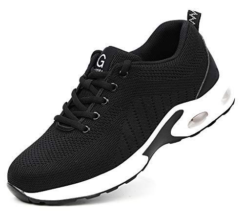 Zapatos S3 de Trabajo con Punta de Acero para Hombres y Mujeres, Calzado Ligero y Transpirable de protección para Exteriores, Botas industriales y de construcción