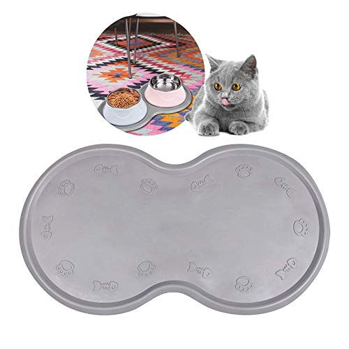 Pet Feeding Mat Cat & Dog Mats for Food & Water - Flexible and Easy to Clean Feeding Mat - Non-Slip...