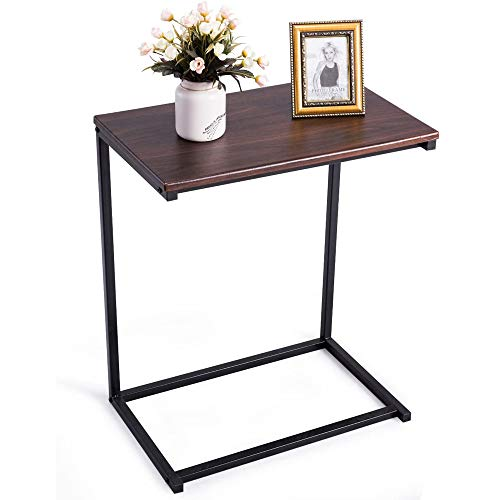 VBARV Sofa Beistelltisch mit Hartholz C Tisch,Geeignet für Laptop Halter Endständer Schreibtisch Couchtisch Notebook Tablet Snack Tisch Sofa Tragbare Workstation