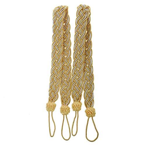 TOOGOO (R) 2 corda della tenda fermatende - sottile corda cordone drappo lacci in tessuto