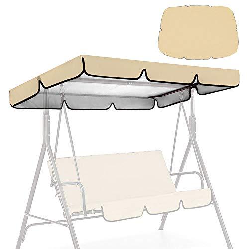 Wowlela Copertura di Ricambio Universale per Dondolo a 3 posti, Protezione UV 190x132x15cm