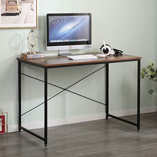 sogesfurniture Escritorio para Ordenador Moderno Mesa de Computadora Escritorio de Oficina Mesa de Trabajo Mesa de Estudio de Madera y Acero, 110x60x75cm, BHEU-CZJYB-SJ01-1
