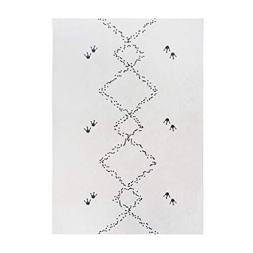 Tappeto vintage Nordic semplice Agnello tappeto del salotto Super morbido e delicato coperta di zona Squisito bordo Resistente feltro inferiore Tessuto Camera Comodino Mat Tappeto da camera da letto s