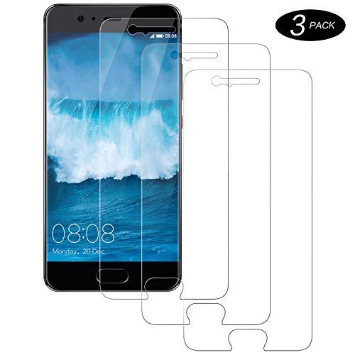 NASFUEY para Huawei P10 Protector de Pantalla [3 Piezas], Anti-Arañazos + 9H Dureza +3D Cobertura + Sin Burbujas, Huawei P10 Cristal Templado
