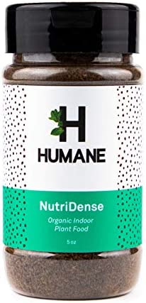 Indoor Plant Food All Purpose Organic Fertilizer in a Convenient Shaker NutriDense 5oz by Humane product image