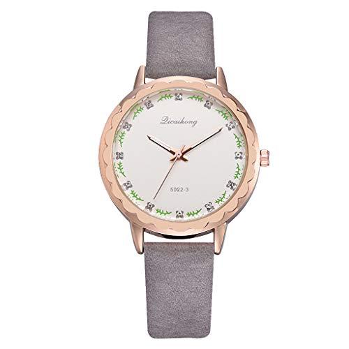 ROVNKD  Diversi colori per lavorare in modo semplice e semplice, in pelle multicolore con stiratura, orologio dal fascino alla moda grigio. Taglia unica