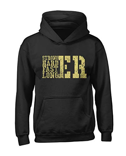 RiotBunny Stronger Harder Faster Longer Homme Capuche Sweatshirt Noir Small