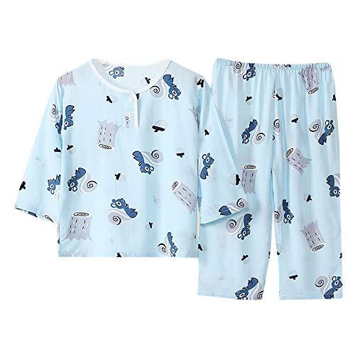 Hopscotch Boys Viscose Art Printed Top and Pyjama Set in...