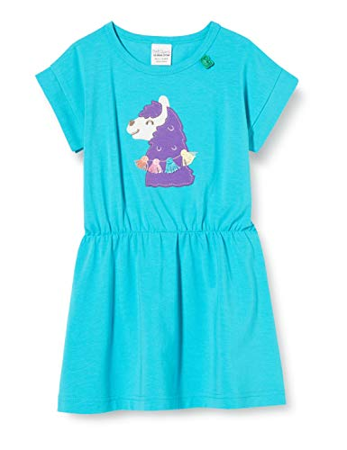 Fred'S World By Green Cotton Lama Dress Robe, Bleu (Ocean 016472802), 98 Bébé Fille