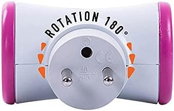 EMOS P0321R Bloc multiprise 3 Prises 1,5 m avec c/âble Rotatif 45/° 3 Prises Schuko avec s/écurit/é Enfant IP20 pour Usage int/érieur 3680 W 250 V P0321R