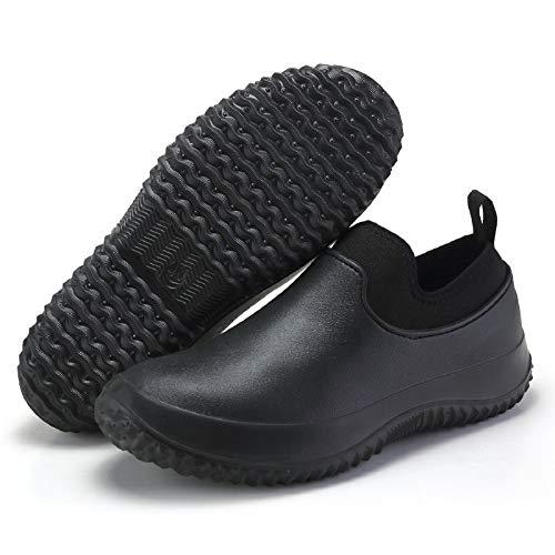Zapatos De Chef Antideslizantes Impermeables, Zapatos De Seguridad De Cocina Para Hombres Y Mujeres, Botas De Trabajo Antideslizantes Resistentes Al Aceite Con Forro De Invierno 41 A negro