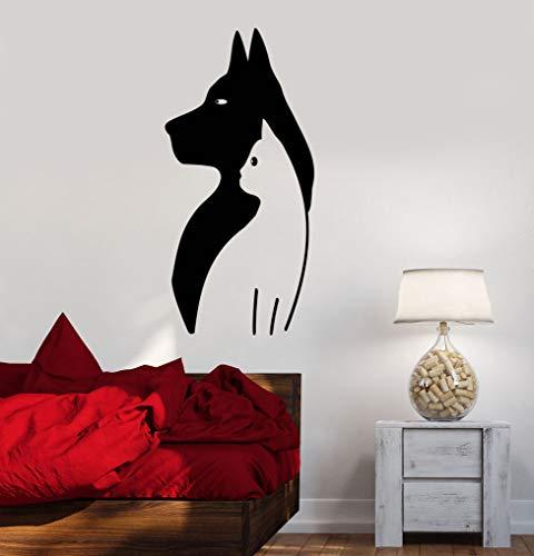 Sanzangtang muurstickers van vinyl, schattig, voor honden en katten, dierenhandel en dierenartsen, muurstickers, waterdicht, decoratie voor thuis of woonkamer