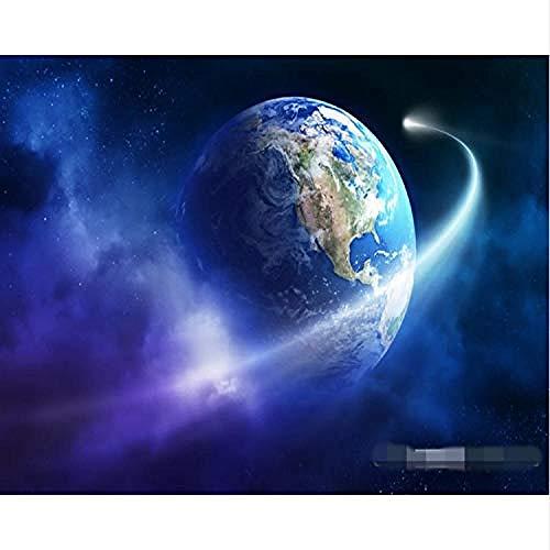 Tapete Universum Landschaft Ktv Entertainment Restaurant Hintergrund Wandbild Foto 3D Imitation Seidentuch fototapete 3d Tapete effekt Vlies wandbild Schlafzimmer-250cm×170cm