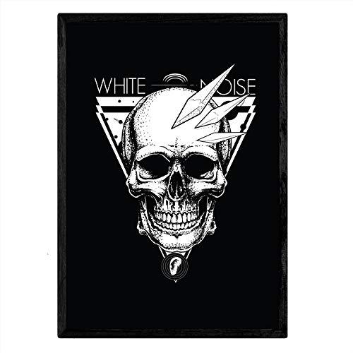 Poster Nacnic deRuido blanco.Lámina decoratief ontwerp. A4-formaat