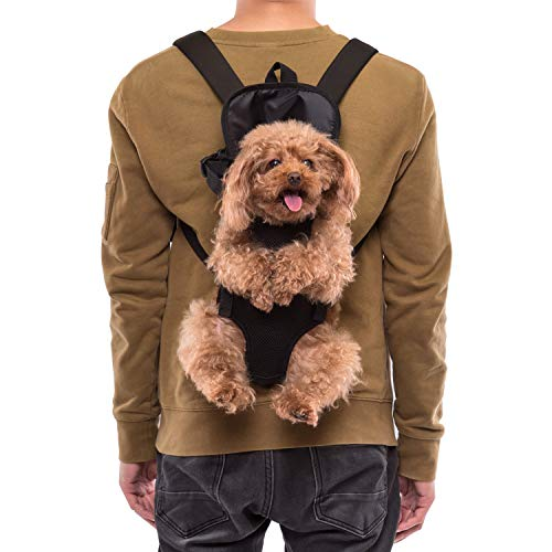 Ownpets Mochila del Perro - Adjustable Bolsa Delantera Pet Front Cat Dog Carrier Backpack/Piernas Afuera & Fácil de Ajustar para Viajar/Senderismo/Camping, Talla M