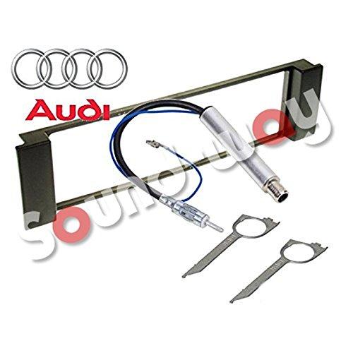 Sound-way 1 DIN Radiopaneel Frame Autoradio, Antenne Adapter, Demontage Sleutels ondersteuning voor Audi A3, A6, Seat Leon, Toledo