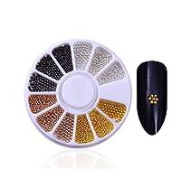 XHYRB 混合色のネイルラインストーン不規則なビーズの3Dネイルアートデコレーションアクセサリー ネイルアクセサリー (Color : 35)