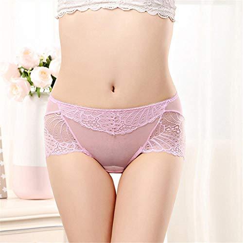 LTHH Damen Perspektive Sexy Spitzenhöschen, Pink_XL