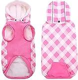 HJUMARAYAN: Ropa para perros, ropa para perros pequeños, ropa para mascotas, perros, gatos, abrigo de algodón para perros, chalecos, abrigo de algodón, chaqueta con capucha, color rosa, XS