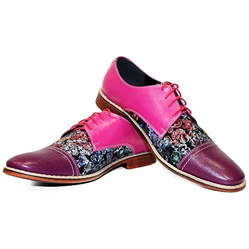 Modello Vollnero - 41 - Handgemachtes Italienisch Bunte Herrenschuhe Lederschuhe Herren Mehrfarbig Oxfords Abendschuhe Schnürhalbschuhe - Rindsleder Weiches Leder - Schnüren