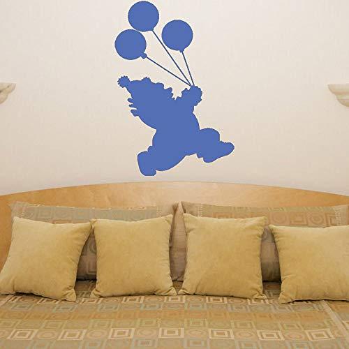Clown Luftballons Wandtattoos Kinderzimmer Kinderzimmer Vinyl Wandaufkleber Wohnzimmer Lustige Hauptdekoration Atr Murals farbe-1 28x42 cm