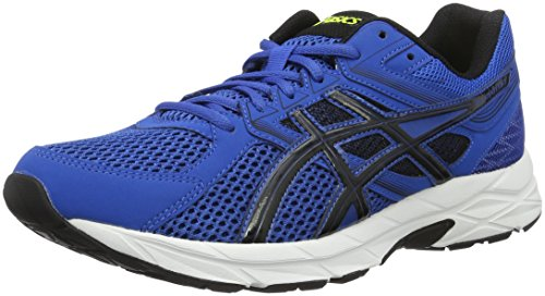 ASICS Herren Gel-Contend 3 Gymnastik, Blu (Imperial/Black/Safety Yellow), 44 1/2 EU