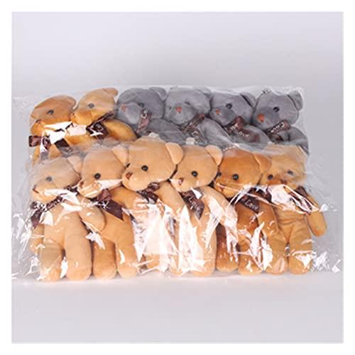 Yuchang LLPing 12 Teile/los 11 cm viele Farben hochzeitsstrauß Mini bär gefüllte plüschtier süße bär Puppen für Party klein anhänger LELEMAO (Color : Color 10, Height : 11cm)