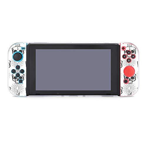 Hülle für Nintendo Switch Totenkopf und Kerze Occult Fünfteiliges Set Schutzhülle Case Kompatibel mit Nintendo Switch Spielekonsole