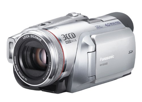 Panasonic NV-GS500 EG-S Camcorder (miniDV, 12-fach opt. Zoom, 6,9 cm (2,7 Zoll) Display, Bildstabilisator)