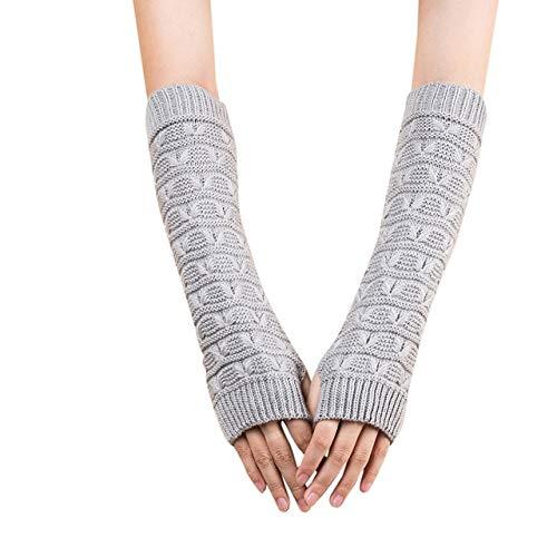 GUANAI Guante Mujeres Lady Winter Unisex Semi-Long Party Gloves Guantes De Invierno De Punto Soft Mitten Jacquard Arm Sleeve