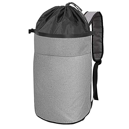 Cuddly Nest Oxford Laundry Bag 2 in 1 - Durable Laundry Backpack with Adjustable Shoulder Strap for College Dorm Apartment Travel(M, Grey)