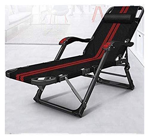 MTCWD Tumbona sillas de Camping Espesar Silla Plegable alisador Tumbona reclinable de Playa Jardín Patio Camping al Aire Libre (Color : 1002)
