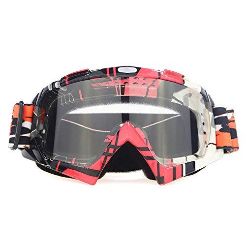 Zfeng Gafas para deportes al aire libre o fuera de carretera, con protección contra el viento y la suciedad, antiimpactos y antipolvo.